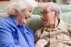 Retired senior volunteer program happy senior couple